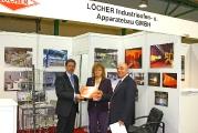 Вручение диплома компании Locher на выставке Термообработка - 2010